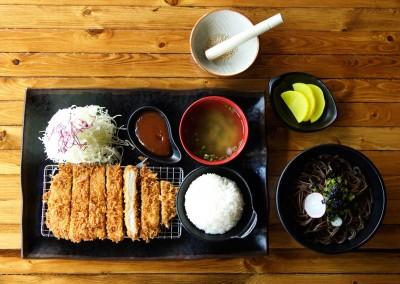 Pork loin katsu with soba $15.50
