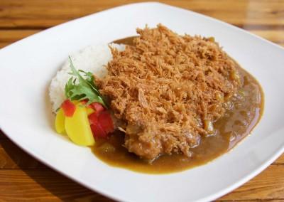 Pork loin katsu curry $15